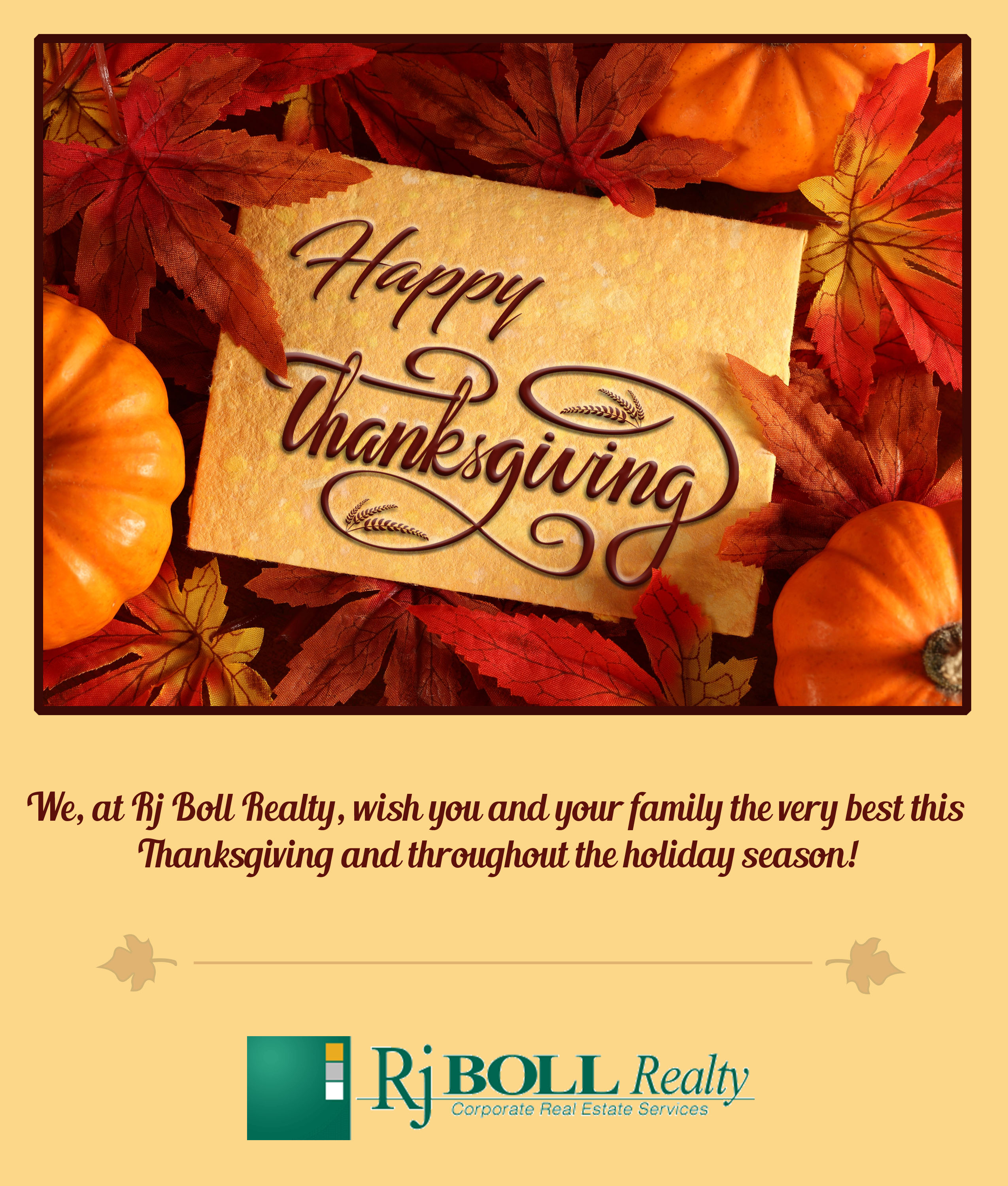 Happy Thanksgiving Rj Boll Realty